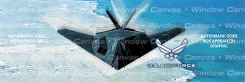 USAF 117 Aircraft Rear Window Graphic