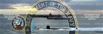 High Seas Navy Military Rear Window Graphic