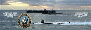 Navy Fleet Military Rear Window Graphic