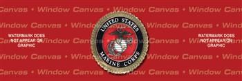 USMC Seal Military Rear Window Graphic