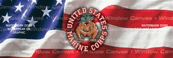 USMC Bulldog Military Rear Window Graphic