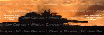 Sunset Military Rear Window Graphic