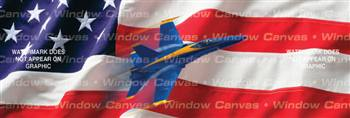 American Might Patriotic Rear Window Graphic