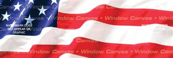 American Pride Flag Rear Window Graphic