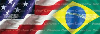 Amer. Pride, Brazilian Hrtg. Flag Rear Window Graphic