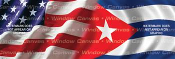Amer. Pride, Cuban Hrtg. Flag Rear Window Graphic