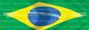 Brazil Flag Rear Window Graphic