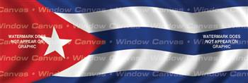 Cuba Flag Rear Window Graphic
