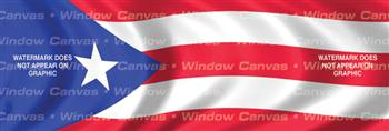 Puerto Rico Flag Rear Window Graphic
