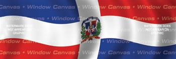 Dominican Republic Flag Rear Window Graphic