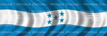 Honduras Flag Rear Window Graphic