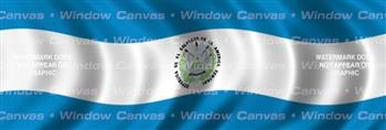El Salvador Flag Rear Window Graphic