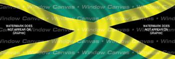Jamaica Flag Rear Window Graphic