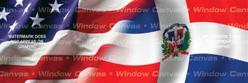 Amer. Pride, Dominican Hrtg. Flag Rear Window Graphic