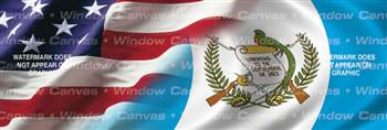 Amer. Pride, Guatemala Hrtg. Flag Rear Window Graphic