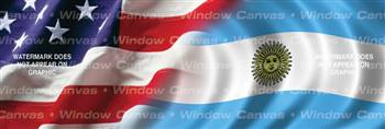 Amer. Pride, Argentina Hrtg. Flag Rear Window Graphic