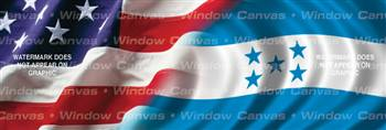 Amer. Pride, Honduras Hrtg. Flag Rear Window Graphic