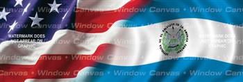 Amer. Pride, El Salvador Hrtg. Flag Rear Window Graphic