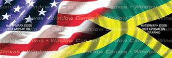 Amer. Pride, Jamaican Hrtg. Flag Rear Window Graphic