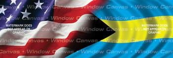 Amer. Pride, Bahama Hrtg. Flag Rear Window Graphic