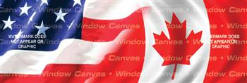 Amer. Pride, Canada Hrtg. Flag Rear Window Graphic