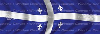 Quebec Flag Rear Window Graphic