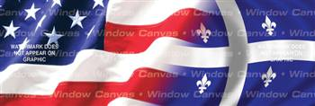 Amer. Pride, Quebec Hrtg. Flag Rear Window Graphic