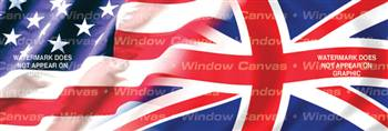 Amer. Pride, Great Britain Hrtg. Flag Rear Window Graphic