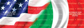 Amer. Pride, Italy Hrtg. Flag Rear Window Graphic