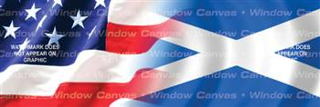 Amer. Pride, Scotland Hrtg. Flag Rear Window Graphic