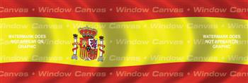Spain Flag Rear Window Graphic