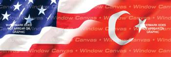 Amer. Pride, Turkey Hrtg. Flag Rear Window Graphic