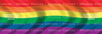 Pride Flag Rear Window Graphic