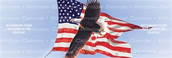 Amerigan Flag Eagle Birds & Ducks Rear Window Graphic