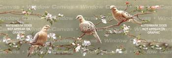 Doves And Apple Blossoms Birds & Ducks Rear Window Graphic