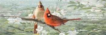 Orchard Blossoms And Birds Birds & Ducks Rear Window Graphic