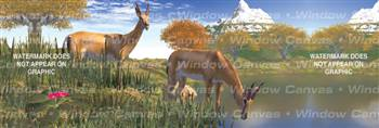 Nature's Water Cooler Deer Rear Window Graphic