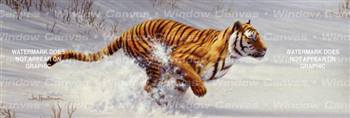 Siberian Tiger Charging Feline Rear Window Graphic