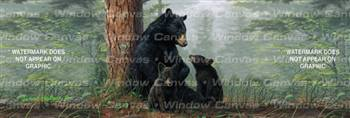 Bear Family Wildlife Rear Window Graphic
