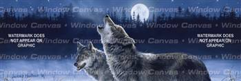 Howling In The Moonlight Wolf Rear Window Graphic