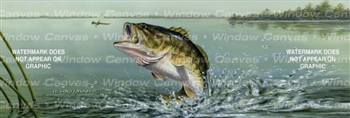 Large Mouth Bass Fishing Rear Window Graphic