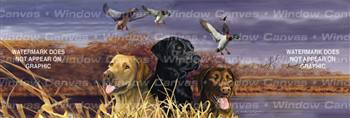 Labs In Marsh Dog Rear Window Graphic