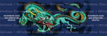 Green Dragon Japanese Rear Window Graphic