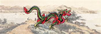 Asian Dragon Japanese Rear Window Graphic