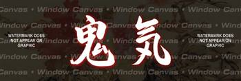 Demon Spirit Japanese Rear Window Graphic