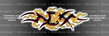 Hard Tribal Tattoo Rear Window Graphic