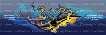 Flaming Tribal Tattoo Rear Window Graphic