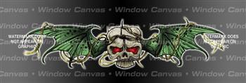 Trapped Skull Tattoo Rear Window Graphic