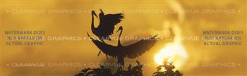 Heron Sunset Wildlife Rear Window Graphic