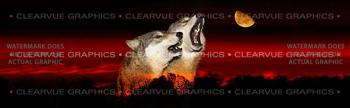 Alpha Male Howl Wildlife Rear Window Graphic